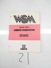 KUBOTA GENERATOR WORKSHOP MANUAL.'85 G5500S