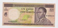Congo - 100 Makuta, 1970