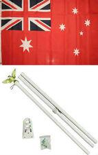 3x5 Australia Australian Red Ensign Flag White Pole Kit Set 3'x5'