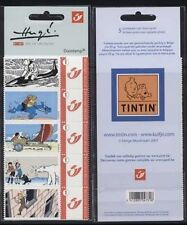 "Belgique**TINTIN ""EN DANGER""-CARNET 5 DUOSTAMPS-Ours Polaire-Requin-KUIFJE-2007"