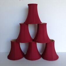 "Set of 6 Candelabra Lamp Shades 6"" w x 6"" t  Burgandy Wine"