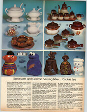 1978 PAPER AD Muppet Ernie Cookie Monster Jar Squirrel Turtle Bobby Baker Boy