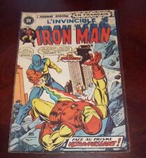 Editions Heritage Invincible Iron Man # 19 1972 French Edition Black White