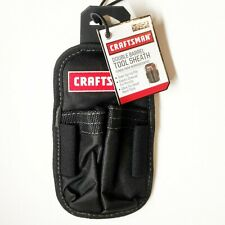 Craftsman Double Barrel Tool Sheath Small Handtools Holder w/ Steel Spring Clip