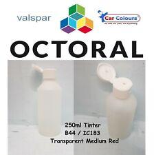 B44 Octoral / IC183 Valspar Octobase Solvent Tinter 250ml Transparent Medium Red