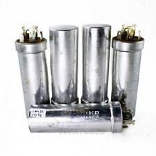 Lot Of 5 Vintage Sprague Electrolytic Can Capacitors 404040uf 200200200v