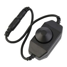 Brightness Dimmer LED Strip Light Switch In-line Manual Knob Style 12V-24 VPWM