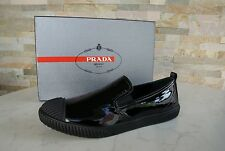 PRADA Gr 35,5 Slipper Mokassins Slip-On Schuhe Shoes 3S5952 black nero UVP 350 €