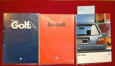 3 x Golf 2 Prospekt, VW Volkswagen, Katalog