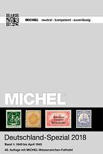 Michel Katalog Deutschland-Spezial 2018 Band 1 1849-1945 Germany Duitsland