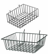 Slatwall and Pegboard Baskets Bundle - (Set of 4 Pegboard Baskets)
