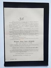RICHARD Loisnel FAIRE PART Chesneau Thiebaut MIGNOT Saint Romain Colbosc 1896