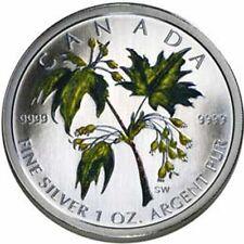 2003 Colorized Silver Maple Leaf 1oz .9999 Fine (Sugar Maple) (10799)