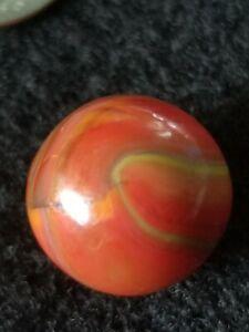 "# 126 Watermelon Marble King Mint. 5/8""."