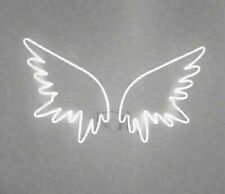"Angel Wings Neon Light Sign Lamp Acrylic 14"" Glass Bedroom Beer Bar Glass Decor"