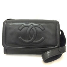 Chanel CC Logo Caviar Piel Bolso para el Hombro Negro/30107