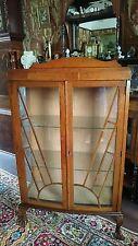 Art Deco 1930s  vintage sunburst display cabinet