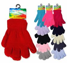 Children Winter Kids Woolly Knitted Warm Magic Unisex Gloves 1 Pair to 6 Pack
