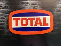 Enseigne Plaque Décorative Garage TOTAL logo année 1970 _55 cm x 31 cm