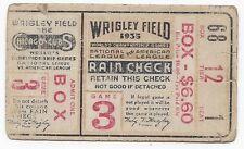 1935 World Series baseball ticket Detroit Tigers Chicago Cubs G 3 Demaree HR