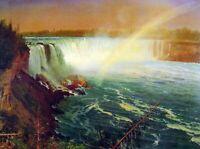 Albert Bierstadt Niagra Falls Fine Art Print on Canvas HQ Giclee Poster Small