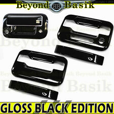 2004-2014 F150 Reg/Ext Cab GLOSS BLACK Door Handle Covers w/KP+Tailgate w/Cam