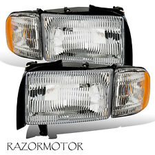 94-01 Replacement Headlight w/Bulb and Corner Signal For Dodge Ram Truck Pair