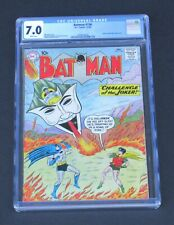 Batman 136 CGC 7.0 Silver Age 1960 Challenge of the Joker story DC Comics