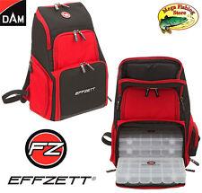 DAM Effzett Tackle Back Pack / Rucksack - Angeltasche + 5 Boxen - Zubehör Tasche
