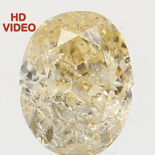 Natural Loose Diamonds Oval I1 Clarity Light Yellow Color 3.60 MM 0.15 Ct N5226