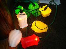 Vintage Rv Lantern Party String Lights Mold Patio Rv Camper 2 Sets New no box