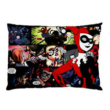 """New Batman Comic Harley Quinn pillow case 30"""" x 20"""" one side cover free shipping"""