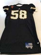 Game Worn Used Army Black Knights Football Jersey #58 Size 48