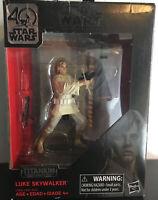 Star Wars The Black Series Titanium 40th Anniversary Luke Skywalker (2016) -New