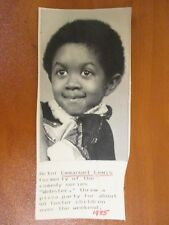 """Vintage AP Wire Press Photo Actor Emmanuel Lewis Star of """" Webster """" 1985"""