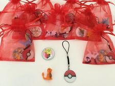 Pokemon Pokeball Pre Filled Party Bags, Cord Charm, Badge & Rubber,Filler/Favour