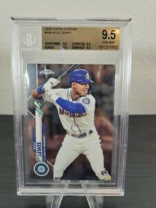 2020 Topps Chrome KYLE LEWIS RC #186 BGS 9.5 Gem Mint BASE Mariners Rookie