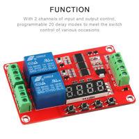 DC 12V Time Delay Relay Module Self-locking Cycle Timing PLC Control Segment