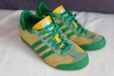 adidas LIFESTYLE KICK ZAIRE LEOPARDS SHOES 11.5 Yellow Green 549088 VTG RETRO