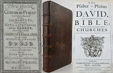 1662*BOOK OF COMMON PRAYER*CHURCH/ENGLAND*LEATHER*PSALMS*1st RESTORATION EDITION