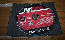 PlayStation 2 TRUE CRIME STREETS OF LA - DISK ONLY! - Rated M - NO CASE/MANUAL!