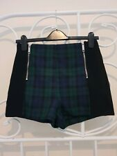 Womens High Waisted Shorts Black River Island Size 10