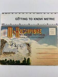 Vtg Postcard Mt Rushmore/ Black Hills, SD 14 Images Accordian Style Unused 1960s