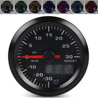 "2"" Car Digital Pointer PSI Turbo Boost Gauge Meter Universal 7 Color LED Display"