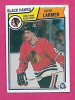 1983-84 OPC # 105 HAWKS STEVE LARMER  ROOKIE ERROR VG CARD (INV# C3311)