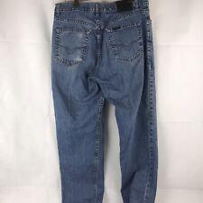 Harley-Davidson Blue Denim Jeans Mens 34x34 Motorcycle Motor Clothes Boot