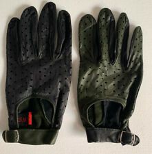 New Very Rare Jeffrey West Hendricks Gin Collectible Mens Leather Driving Gloves