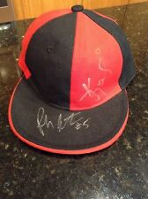 Red/Black Hat Cap autographed by Kevin Johnson NBA Pooh Jeter Georgetown size 7