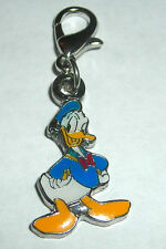 DISNEY DONALD DUCK DOUBLE SIDED LOBSTER CLASP BRACELET CHARM NEW