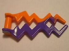 LEGO - Wave Angular / Electric Zigzag - Orange w/ Marbled Dark Purple Pattern